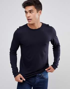 Celio Long Sleeve T-Shirt In Navy