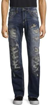 Affliction Distressed Washed Jeans