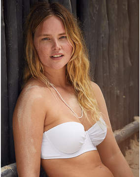 aerie Ribbed Strapless Lightly Lined Bikini Top