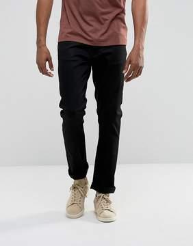 Nudie Jeans Dude Dan Straight Fit Jean Dry Ever Black
