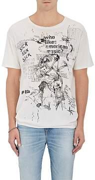 R 13 Men's Doodle Boy Cotton-Cashmere T-Shirt