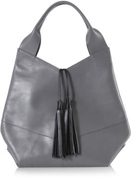 Joanna Maxham Afficianado Grey Leather Tote