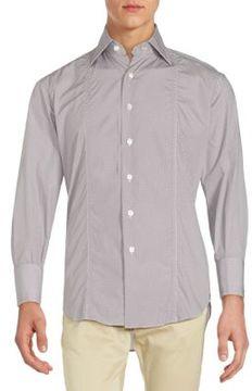 Billionaire Boys Club Regular-Fit Pindot Cotton Sportshirt