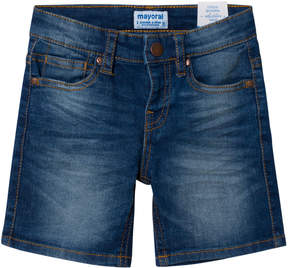 Mayoral Blue Denim Shorts