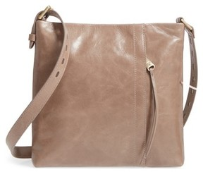 Hobo Leather Crossbody Bag - Grey
