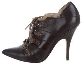 Jean-Michel Cazabat Leather Lace-Up Booties