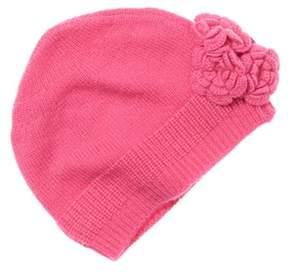 Baby CZ Girls' Pink Cashmere Flower Hat.
