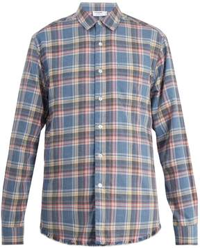 Frame Frayed-hem checked shirt