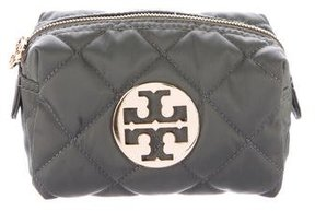 Tory Burch Quilted Nylon Cosmetic Bag