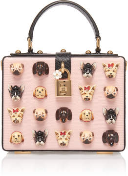Dolce & Gabbana Appliquéd Leather Box Tote