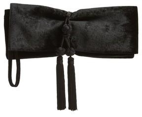 Badgley Mischka Carbon Velvet Clutch - Black