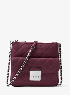 Michael Kors Sloan Medium Quilted-Leather Crossbody Bag - Plum - 30F6ASLM2L-633 - PURPLE - STYLE