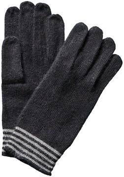 Portolano Men's Minerva Black Angora & Wool-Blend Gloves