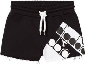 Diadora Black Branded Sweat Shorts