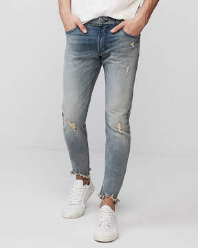 Express Super Skinny Light Wash Destroyed Stretch+ Jeans