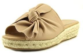 Nanette Lepore Dominik Open Toe Leather Slides Sandal.