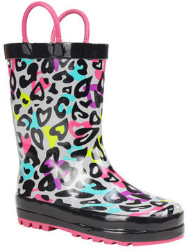Western Chief Infant Girls' Groovy Leopard Rain Boot