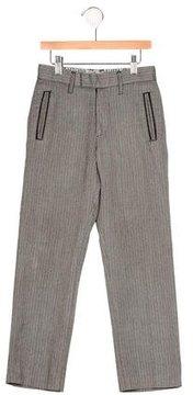 John Galliano Boys' Herringbone Flat Front Pants