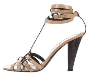 Burberry Patent Leather Multistrap Sandals