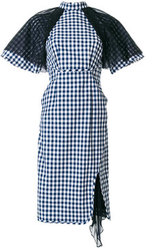 Facetasm checked structured dress