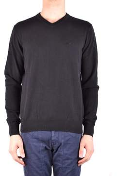 Armani Jeans Men's Black Cotton Sweater.