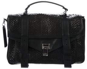 Proenza Schouler Woven Leather Medium PS1 Satchel