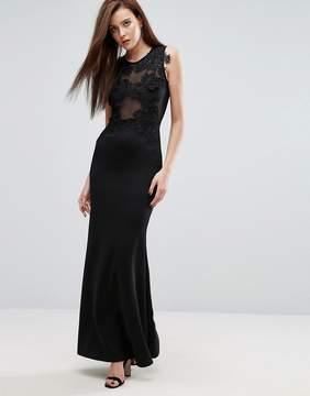 Club L Maxi Dress with Lace Applique Detail