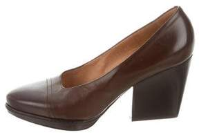 Dries Van Noten Leather Platform Pumps