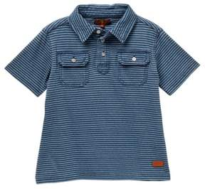 7 For All Mankind Stripe Polo (Little Boys)