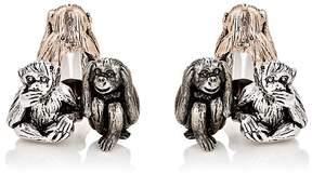 Jan Leslie Men's Three-Wise-Monkeys Cufflinks