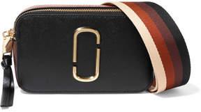 Marc Jacobs - Snapshot Textured-leather Shoulder Bag - Black