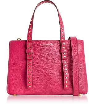 Marc Jacobs Hibiscus Leather Mini T Studded Tote - FUCHSIA - STYLE