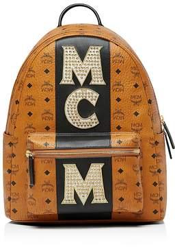 MCM Stark Stripe Stud Backpack