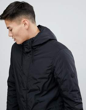 Solid Lightweight Hooded Parka