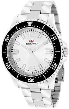 Seapro Tideway Mens Silver Dial Stainless Steel Bracelet Watch