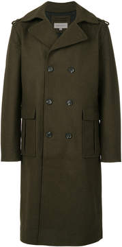 CK Calvin Klein double breasted military coat