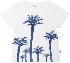 Il Gufo Palm Trees Print Cotton Jersey T-Shirt