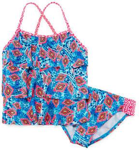 Arizona Girls Pattern Tankini Set - Girls' 4-16