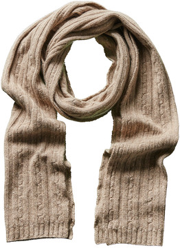 Portolano Men's Light Brown Cashmere, Silk, & Wool-Blend Scarf