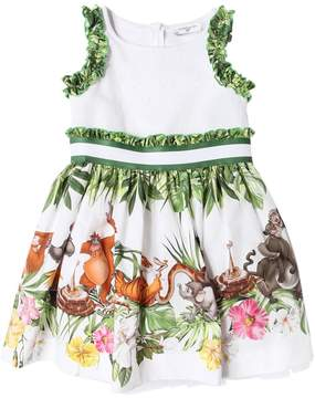 MonnaLisa Jungle Book Poplin Dress W/ Sequins