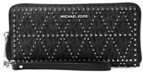 Michael Kors Money Pieces Travel Continental Wristlet - Black - 32F7SF6Z9B-001 - ONE COLOR - STYLE