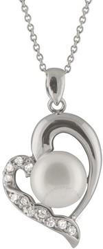 Bella Pearl Sterling Silver Heart Shaped Freshwater Pearl Pendant