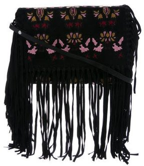 Isabel Marant Embroidered Fringe Crossbody