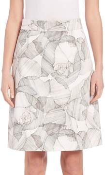 BOSS Women's Victyna Printed A-line Skirt