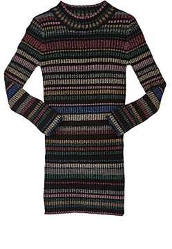 Milly Kids' Metallic-Striped Rib-Knit Sweaterdress