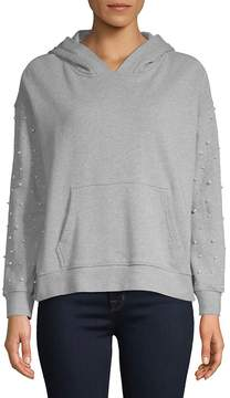 Driftwood Women's Pearl-Embellished Pullover Hoodie