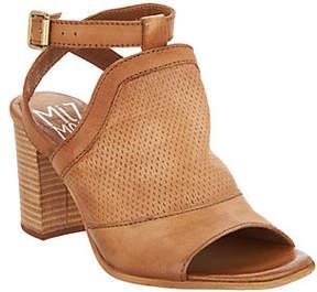 Miz Mooz Leather Block Heel Sandals - Shiloh