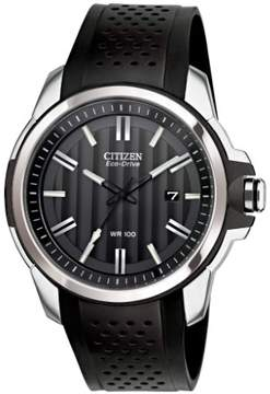 Citizen Men's AW1150-07E Eco-Drive Polyurethane Watch, 44mm