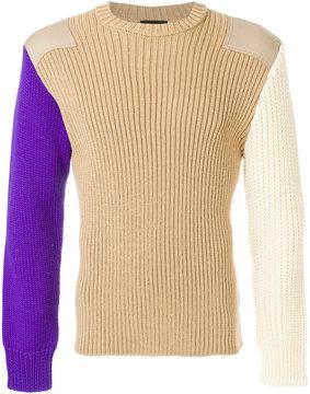 Calvin Klein ribbed patchwork jumper