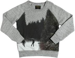 Finger In The Nose Skater Printed Cotton Sweatshirt